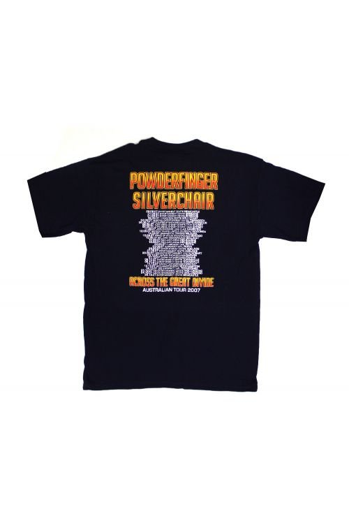 Across The Great Divide Black Tshirt by Powderfinger